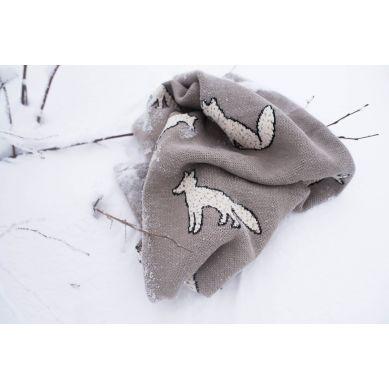 Fabliek - Kocyk Bawełniany Zimowe Liski
