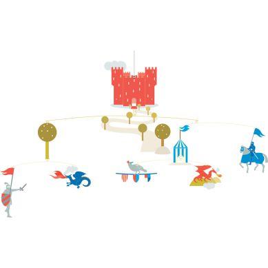Djeco - Ruchoma Dekoracja Zamek Rycerzy