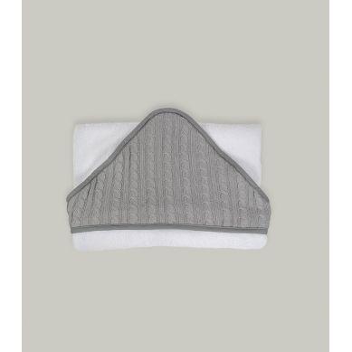 Muzpony - Duży Ręcznik Kąpielowy z Kapturem 140x70 Malmo (biały)