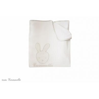 Caramella - Kocyk Niemowlęcy Light Beżowy z Zajączkiem
