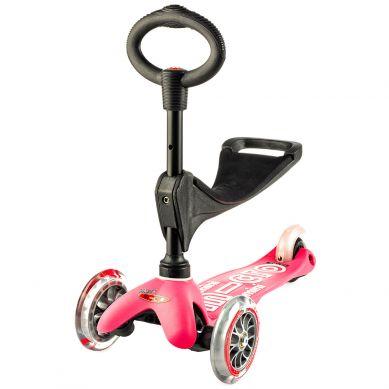 Micro - Hulajnoga Mini Baby Seat 3w1 Deluxe Pink 1+