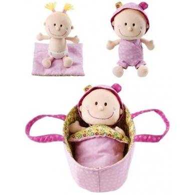 Lilliputiens - Szmaciana Lalka w Nosidle Baby Chloe 9m+