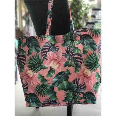 La Millou - Shopper Bag - Peach Hawaiian Flowers
