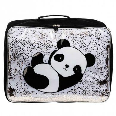 A Little Lovely Company - Lśniąca Walizeczka GLITTER Panda