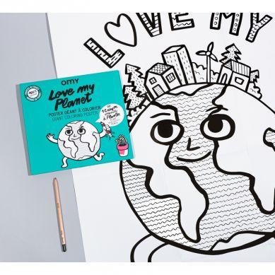 Omy - Kolorowanka Love My Planet 100x70cm