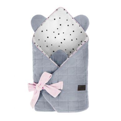 Sleepee - Rożek Niemowlęcy Royal Baby Grey/Pink