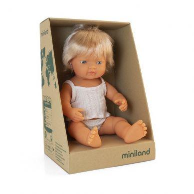 Miniland - Lalka Dziewczynka Europejka 38cm