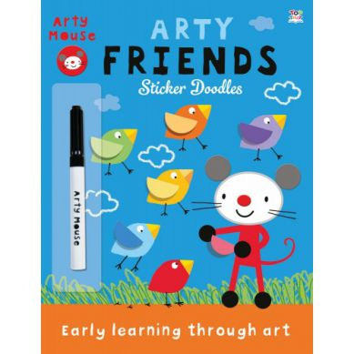 Wydawnictwo Usborne Publishing - Arty Friends Sticker Doodles