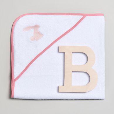 Bim Bla - Ręcznik Niemowlęcy z Różowym Haftem