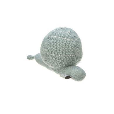Lassig - Dziergana przytulanka z grzechotką Garden Explorer Ślimak Szarozielony