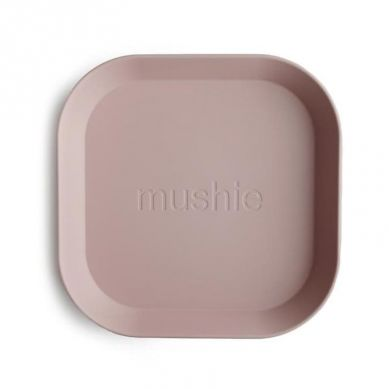 Mushie - 2 Talerzyki Square Blush