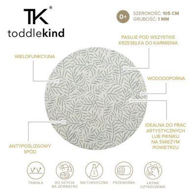 Toddlekind - Mata Ochronna Podłogowa Okrągła Clean Wean Mat Ocean Leaves Stone