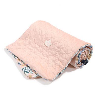 La Millou - Kocyk Narzutka Przedszkolaka Velvet Collection Fairytale Land Powder Pink 110x140cm