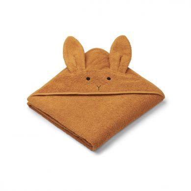 Liewood - Ręcznik z Kapturem Rabbit Mustard 100cm x 100cm