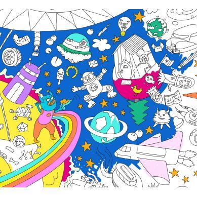 Omy - Kolorowanka Cosmos 100x70cm