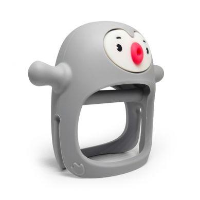 Smily Mia - Gryzak Silikonowy Pingwin Buddy Light Grey