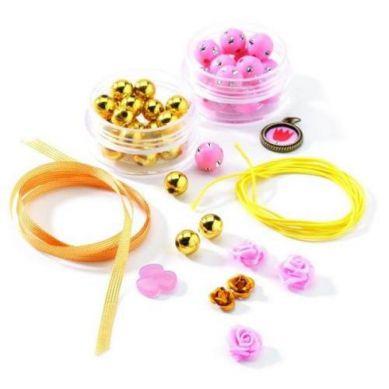 Djeco - Zestaw do Tworzenia Biżuterii Perły i Kwiaty
