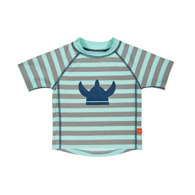 Lassig - Koszulka T-shirt do Pływania Striped Aqua UV 50+ 0-6m