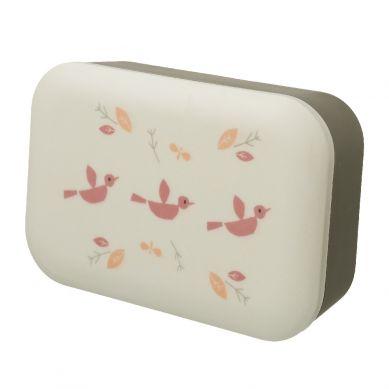 Fresk - Bambusowe Pudełko Śniadaniowe Ptaszki