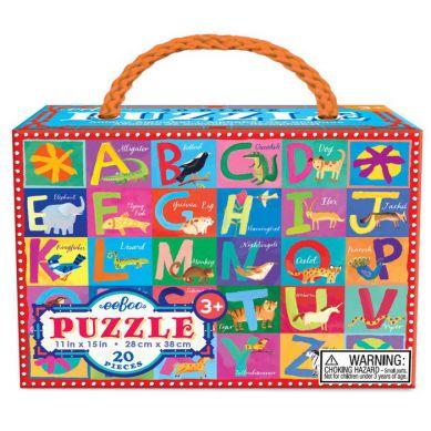 Eeboo - Puzzle Animal Alphabet 20 elementów