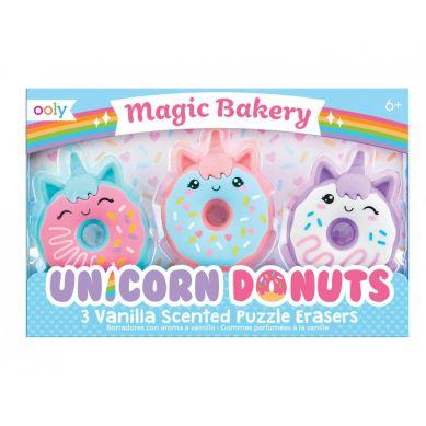 Ooly - Pachnące Gumki do Ścierania Magiczna Piekarnia Jednorożców 3szt 6+