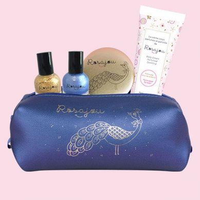Rosajou - Kosmetyki dla dziewczynki w zestawie Saszetka Granatowa
