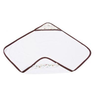 Poofi - Ręcznik Kąpielowy z Kapturkiem 85x85cm Miś