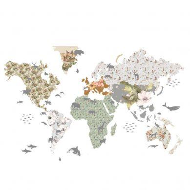 Dekornik - Naklejki Ścienne Mapa 8 Flowers L 180x107cm