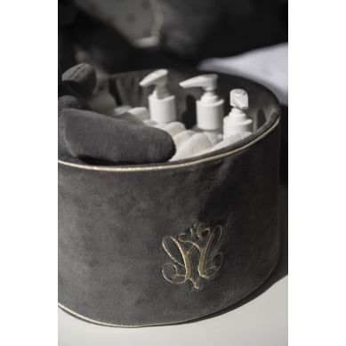 Caramella - Pojemnik Okrągły Anthracite Gloss