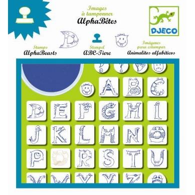Djeco - Zestaw ze Stempelkami Alfabet