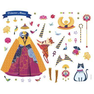 Auzou - Naklejki na Planszach Księżniczki Całego Świata 3+
