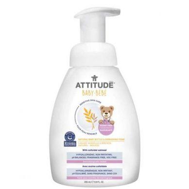 Attitude - Naturalna Piana Mydlana do Mycia Butelek i Naczyń dla Niemowląt Bezzapachowa 295 ml