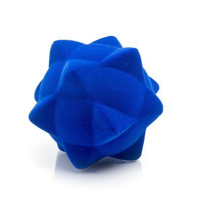 Rubbabu - Piłka Sensoryczna z Delikatną Fakturą Piramidy Niebieska
