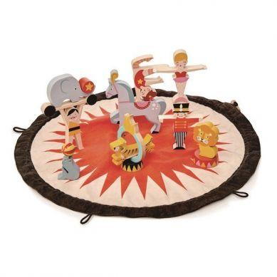Tender Leaf Toys - Mata z Drewnianymi Zabawkami Akrobaci 3+