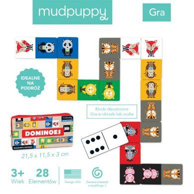 Mudpuppy - Gra Domino Geometryczne Zwierzęta w Podróżnym Opakowaniu