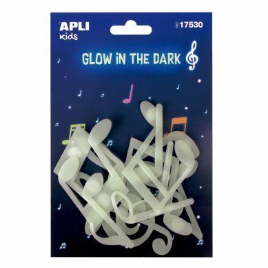 Apli Kids - Fluorescencyjne Naklejki Nutki 3+