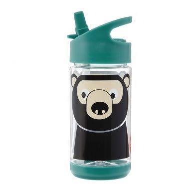 3 Sprouts -  Bidon Niedźwiedź Teal 350 ml