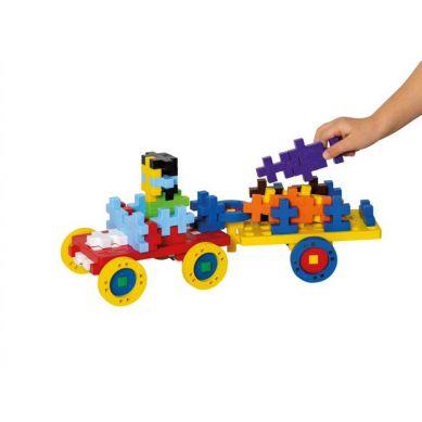 Plus Plus - Puzzle Midi Basic Make & GO! - 70 szt. Auto z przyczepą