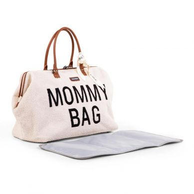 Childhome - Torba Mommy Bag Teddy Bear White (Limited Edition)