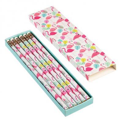 Rex - Zestaw 6 Ołówków w Pudełeczku Flamingo