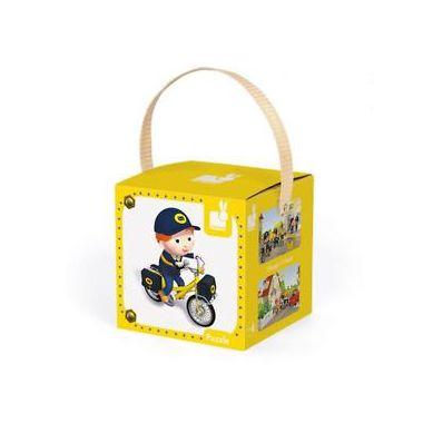Janod - Puzzle 2w1 Matteo i Jego Rower