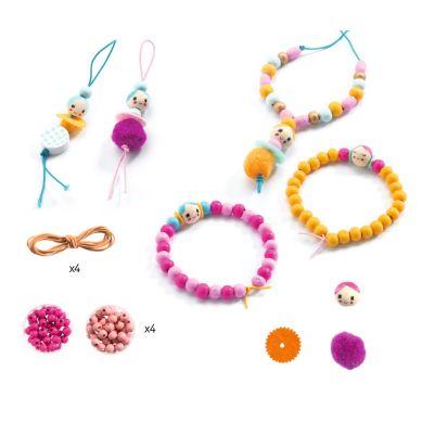 Djeco - Zestaw do Tworzenia Biżuterii Perły i Figurki