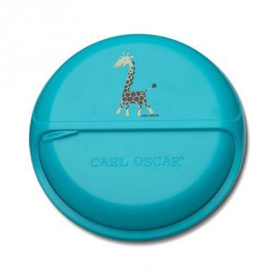 Carl Oscar - Rotable SnackDISC™ 5 komorowy obrotowy pojemnik na przekąski Turquoise Giraffe