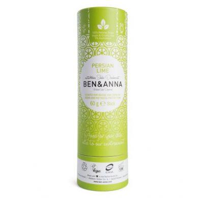 Ben and Anna - Naturalny Dezodorant na Bazie Sody Persian Limę w Sztyfcie Kartonowym
