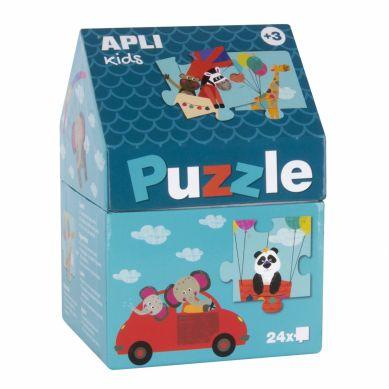 Apli Kids - Puzzle w Kartonowym Domku Safari 3+