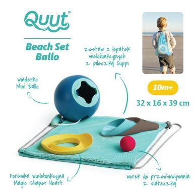 Quut - Set Plażowy Mini Ballo + Cuppi + Magic Shapers Heart w Worku
