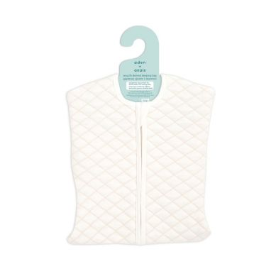 aden + anais - Śpiworek Muślinowy Snug Fit Sleeved Cream/Pink 3-6 m