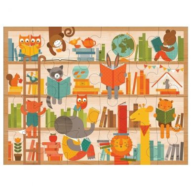 Petit Collage - Puzzle Podłogowe Czytanie