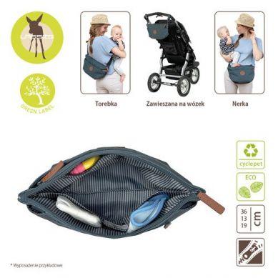Lassig - Green Label Torba Nerka dla Mam Bum Bag Adventure Petrol