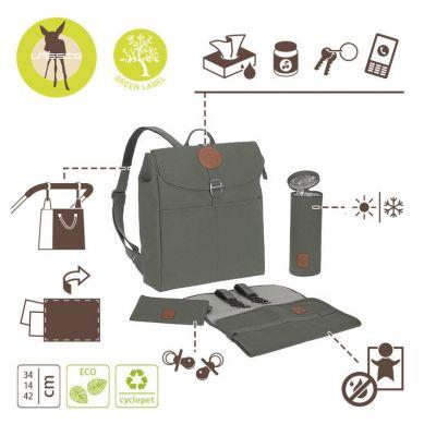 Lassig - Green Label Plecak dla Mam z Akcesoriami Adventure Backpack Olive